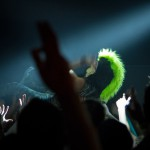 DJ BL3ND crowd surfing during his showcase at Buffalo Billards