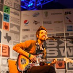Devandra Banhart playing the radio day stage in the Austin convention center.