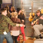 Music fans in the Gibson Picking Parlor