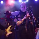Kelis' band at the NPR showcase at Stubb's