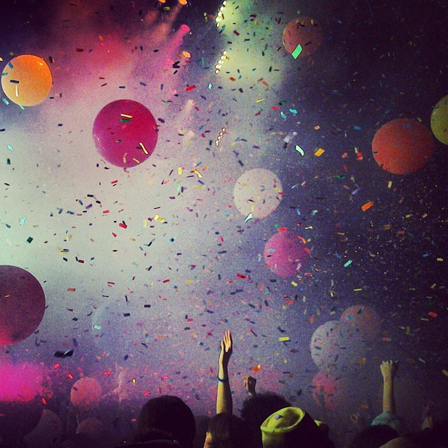 Audience during The Flaming Lips in 2012 — photo via @space_babe