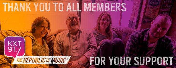 Thank You Members!