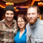 Matt Vasquez and Jon Jameson of Delta Spirit with Gini Mascorro