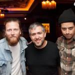 Matt Vasquez and Jon Jameson of Delta Spirit with Mark Abuzzahab