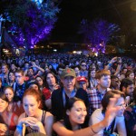 Excited fans watch Cafe Tacvba playing the NPR Music Showcase at Stubb's.