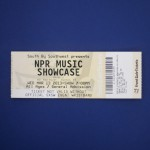 Lottery ticket for first access to NPR Music Showcase at Stubb's.