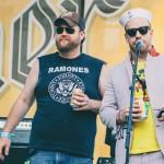 The festival MCs