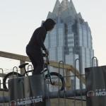 Trick biker at The House of Vans