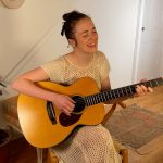 Margaret Glaspy singing at home
